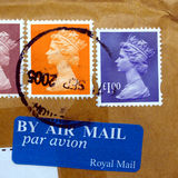 UK Stamps Stock Photography