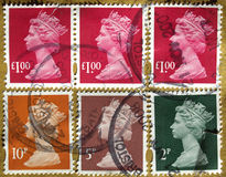 UK Stamps Royalty Free Stock Photo