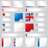 Uk stickers and tabs Stock Photo