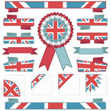 Uk stitched ribbons Stock Photo