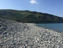 Uk Stone beach. British pebble stone beach in the uk Sea Stock Photography