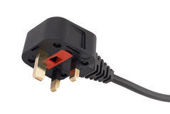 UK style 3 pin fused mains plug Stock Image