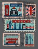 UK-symbol vektor illustrationer