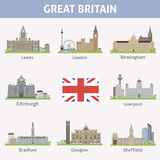 UK. Symbols of cities Stock Image