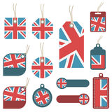 Uk tags Stock Image