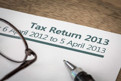 UK tax return 2013 Stock Image