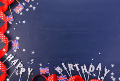 Uk theme party background with decorated borders. Stock Images