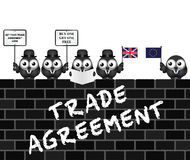UK Trade Agreement Delegation Stock Photography