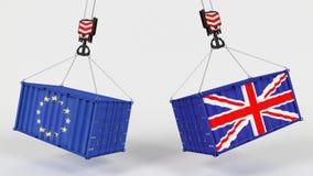 Uk Trade Import Tarrifs. 3D Render of UK Trade Import Tarrifs Stock Photos
