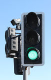 UK traffic light green at pedestrian crossing Stock Photos
