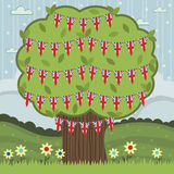 Uk tree decoration Stock Image