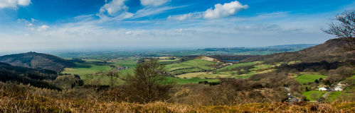 UK upland landscape panorama Stock Images