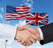 UK and US flags Stock Image