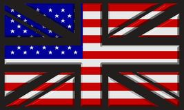 UK/USA flag Stock Image