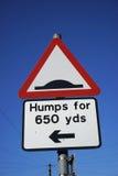 UK vägtrafiktecken Arkivfoto