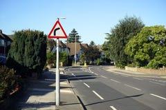 UK vägtrafiktecken Arkivbild