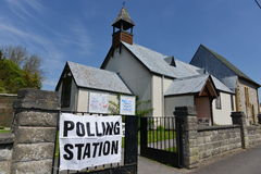 UK Voter Go To the Polls on Super Thursday Stock Images