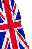 UK waving flag on white background Stock Images