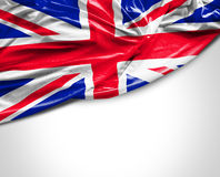 UK waving flag on white background Stock Photo