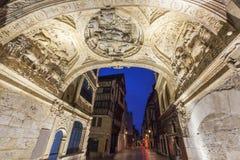 Łuk Wielki zegar w Rouen Obrazy Stock