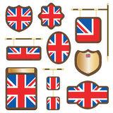 Uk wooden plaques Stock Image