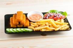 układ scalony ryba smażący japoński tempura Obraz Stock