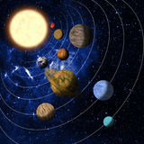 układ słoneczny Zdjęcie Royalty Free