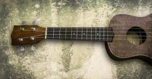 Ukelele Hawaiiaanse gitaar op witte achtergrond Royalty-vrije Stock Afbeelding