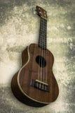 Ukelele Hawaiiaanse gitaar op witte achtergrond Stock Foto's