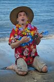 Ukelele Man royalty free stock photos