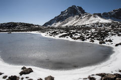 Ukhtasar alpine lake royalty free stock image