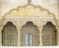 Łuki inside Czerwony fort, Agra, India Zdjęcia Stock