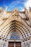 Łuki na Barcelona katedrze Zdjęcia Royalty Free