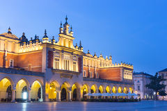 Ukiennice, Market Square at night, Krakow Royalty Free Stock Image
