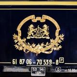 Ukierunkowywa Ekspresowego emblemat Obraz Royalty Free