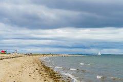 Ukierunkowywa plażę, Long Island obraz stock