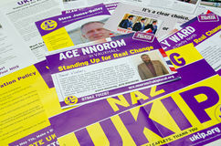 UKIP-Parlamentswahl-Broschüren Lizenzfreie Stockbilder