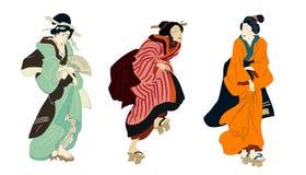 Free Ukiyo-e Beauty Woman, Japanese Geisha In Kimono Vector Illustration. Japan Art Of Asian Girl, Cute Woman Fashion Stock Photos - 216178473