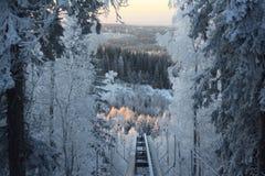 Ukko Koli, Finland, jaar 2008 Stock Foto