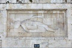 uknown战士的纪念碑希腊议会的在雅典 库存照片