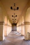 łukowaty korytarza obraz stock