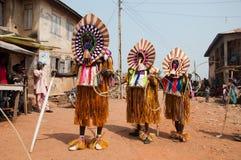 Φεστιβάλ Ukpesose Otuo - μεταμφίεση ITU στη Νιγηρία Στοκ Εικόνα