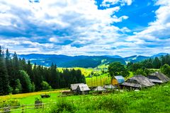 Ukraińskie Karpackie góry 01 obrazy royalty free