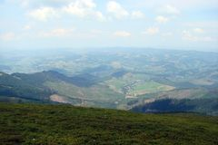 Ukraińscy Carpathians Borzhava pasmo górskie zdjęcia royalty free