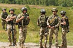 Ukraińscy desantowowie po trenować walkę obraz stock