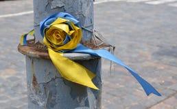 Ukraińscy faborki na poczta strugającej Zdjęcie Royalty Free