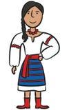 Ukraińska dziewczyna Obrazy Royalty Free