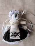 Ukraińska handmade ludowa lala obraz royalty free