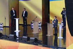 Ukraińska Prezydencka debata w Kyiv zdjęcie stock