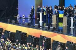 Ukraińska Prezydencka debata w Kyiv obrazy royalty free